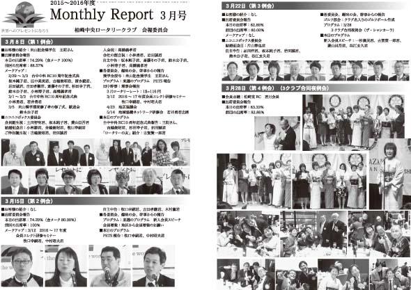 2016年3月 月報