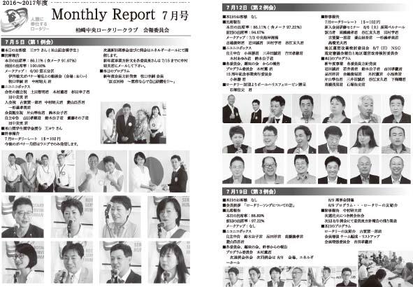 2016年7月 月報