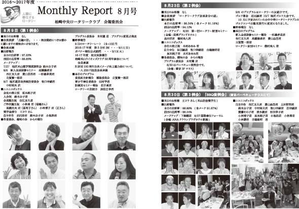 2016年8月 月報